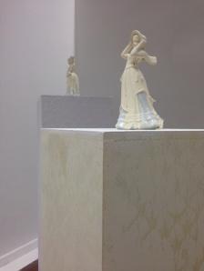Untitled (Three Ornamental Figures, 3 Ornamental Plinths), 2014